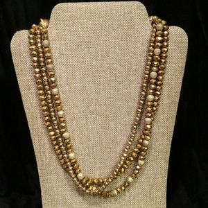 Glitter Gold Necklace
